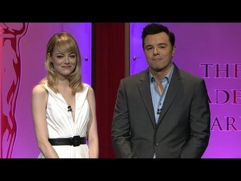 Oscar Nominations 2013: Seth MacFarlane, Emma Stone Interview
