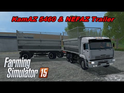 Kamaz 5460 and NEFAZ Trailer v1.0