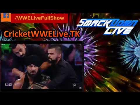 WWE Smackdown Live 7/11/17 - Jinder Mahal vs AJ Styles - WWE Championship Match