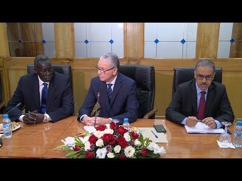 الحسين الوردي يتباحث مع وزير الشؤون الخارجية لجنوب السودان