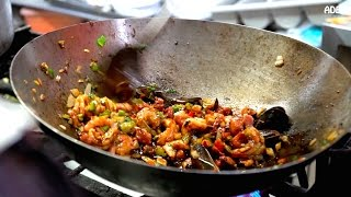 A variety of street food dishes on friendly Central Street Food Market in San José in Costa Rica. Seafood, cheese tortillas, Gallo Pinto, Ceviche, fruit shakes - you ...
