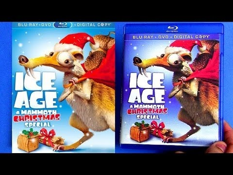 Ice Age A Mammoth Christmas blu ray unboxing review