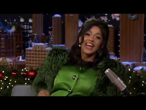 Cardi B and Jimmy Fallon interview (ALL AWKWARD MOMENTS)