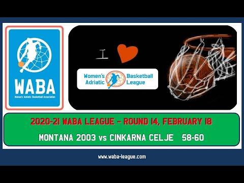 2020-21 WABA R14 Montana 2003-Cinkarna Celje 58-60 (18/02/2021) видео
