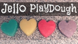 Jello Playdough - How To - Easy DIY PlayDoh - YouTube
