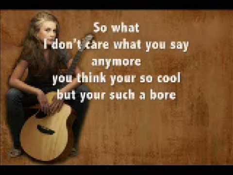Tekst piosenki Savannah Outen - So what ? po polsku