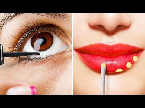 28 CRAZY MAKEUP AND BEAUTY HACKS