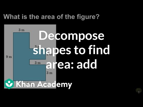 Decomposing Shapes To Find Area Add Video Khan Academy