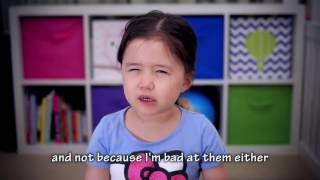 Cute 4 yo girl tells us about New Year Resolutions