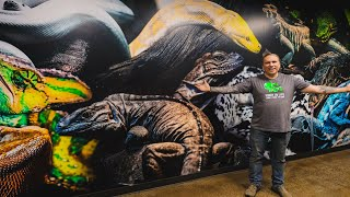 THEY SURPRISED ME WITH THIS INSANE REPTILE MURAL!! Reptile Zoo Build Day#6 | BRIAN BARCZYK by Brian Barczyk