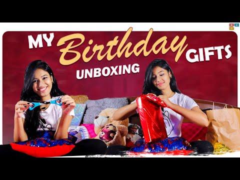 My Birthday Gifts Unboxing   My 18th Birthday   Neha Chowdary, Nani    Tamada Media