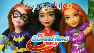 DC Super Hero Girls Wonder Woman + Invisible Jet, Starfire & Blast Action Batgirl
