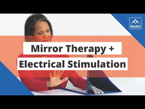 [VIDEO] Mirror Therapy Combined With Electrical Stimulation Using SaeboStim Micro – YouTube