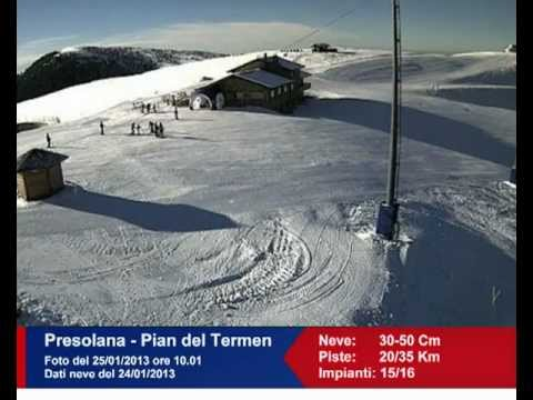 Trentino - Bollettino neve e webcam live 24.01.13