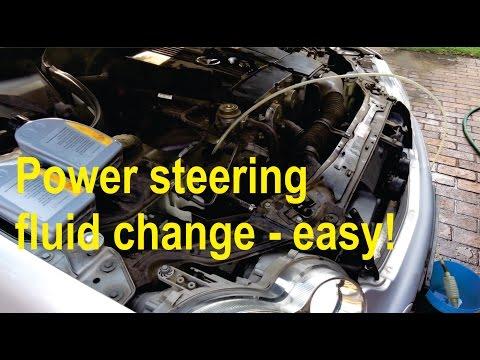 How to flush your power steering fluid easily (W203; W210; W211; W212))