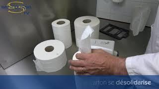 Bobine papier essuyage diamètre 18,5cm - à dévidage central (x6)
