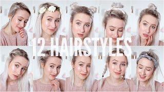 Video 12 EASY HEATLESS HAIRSTYLES - Short / Medium Hair | Sophie Louise MP3, 3GP, MP4, WEBM, AVI, FLV Oktober 2018