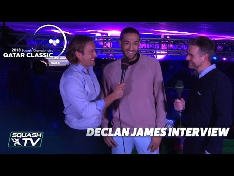 Squash: Declan James Interview - Qatar Classic 2018