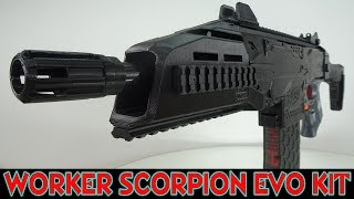 "Heute stelle ich euch mal das ""Worker Mod F10555 3D Printed EVO3 Kit"" für die Nerf Stryfe vor. Link Scorpion Evo Kit Ebay:http://www.ebay.de/itm/Worker-Mod-F10555-3D-Printed-EVO3-Kit-Tube-Decoration-for-Nerf-Stryfe-Modify-Toy/201928802059?ssPageName=STRK%3AMEBIDX%3AIT&var=501936482232&_trksid=p2055119.m1438.l2649"