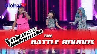 "Geisha vs Fitri vs Sherina ""Untuk Sahabat"" I The Battle Rounds I The Voice Kids Indonesia 2016"
