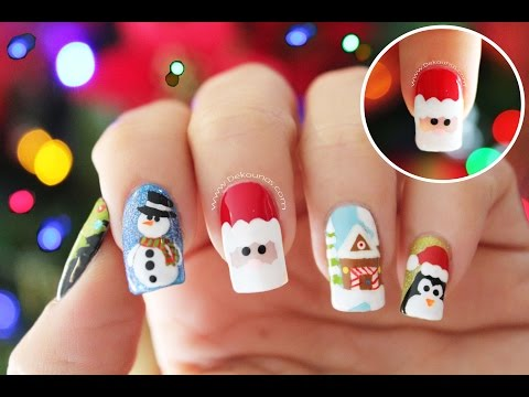 Decoración de uñas navidad PAPÁ NOEL - Santa Claus nail art