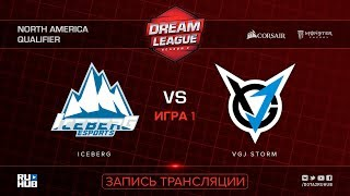 Iceberg vs VGJ Storm, DreamLeague NA Qualifier, game 1 [Mila]