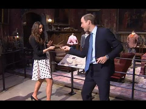kate - The Duke and Duchess of Cambridge have duelled with wands like wizards from the Harry Potter movies after they were given a crash course in the magical arts ...