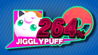 I played All-Star mode attacking with only Jigglypuff rests