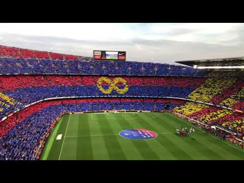 FC Barcelona Anthem During Andrés Iniesta's Last Game