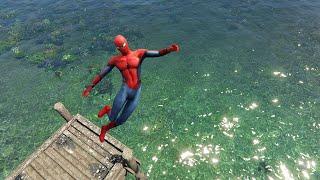 GTA 5 Crazy Spiderman ragdolls ep.9 [Euphoria physics Funny moments]