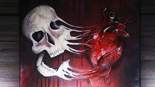 Speed Paint: Melted Skull (Limited Edition Prints!) by Madeyewlook