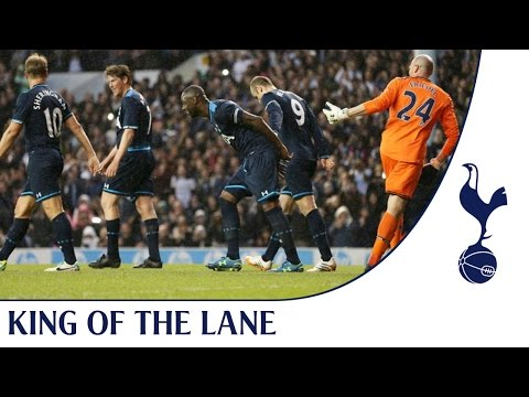 testimonial - Club legend and former captain Ledly King opens the scoring in his own testimonial for the Ledley XI after being pulled to the ground by Younes Kaboul and Mi...