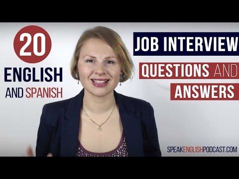 20 Preguntas para una Entrevista de Trabajo en Inglés y Consejos English Job Interview