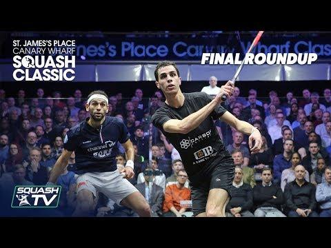 Squash: Elshorbagy v Farag - SJP Canary Wharf Classic 2020 Final Roundup