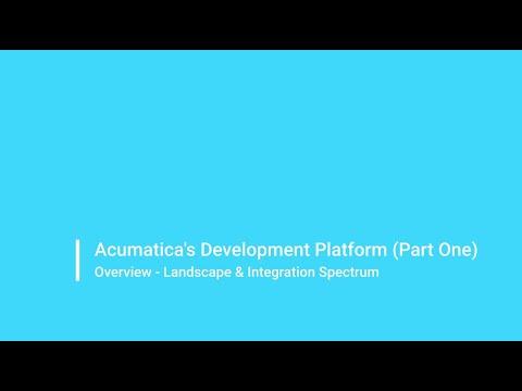 Acumatica's Development Platform (Part One)