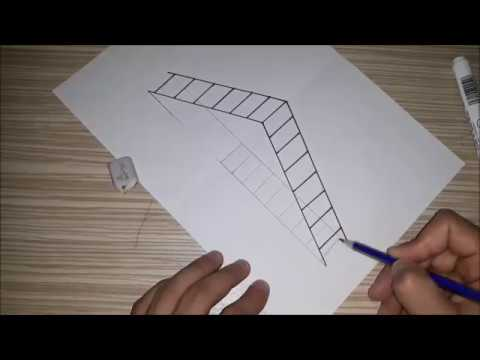 how to draw a 3d ladder