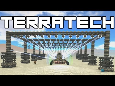 TerraTech - Recharging Base and Megaton Cannon!  - Terra Tech Gameplay
