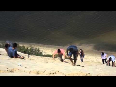 Subindo a duna em Aquiraz