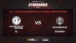 Invictus Gaming vs Team DuoBao, Game 1, SL i-League StarSeries Season 3, China