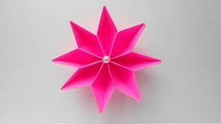 Цветок из бумаги Поделки оригами своими руками для начинающих