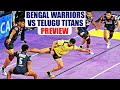 PKL 2017: Bengal Warriors face Telugu Titans Match preview | Oneindia News
