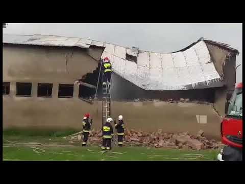 Wideo1: Pożar owczarni w Pianowie