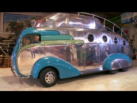 custom - Subscribe NOW to Jay Leno's Garage: http://full.sc/JD4OF8 The brilliant creator of Pistol Pete and the Tank Car is back with his latest - a motor home inspir...
