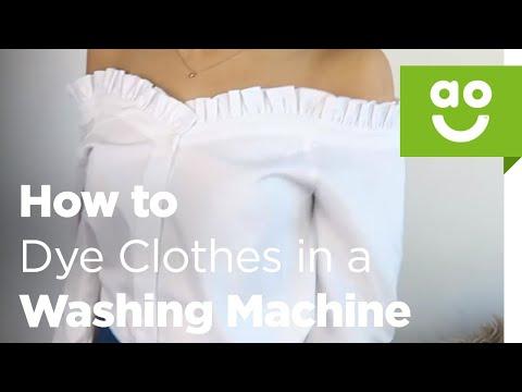 Dye your clothes using your washing machine | ao.com