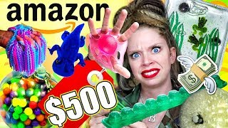 I Spent $500 on the WEIRDEST STRESS TOYS from AMAZON! by GRAV3YARDGIRL