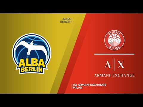 ALBA Berlin - AX Armani Exchange Milan Highlights | Turkish Airlines EuroLeague, … видео