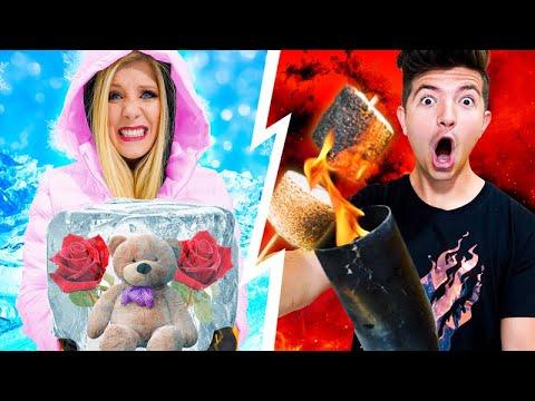 HOT vs COLD Date Night Challenge ft Preston!