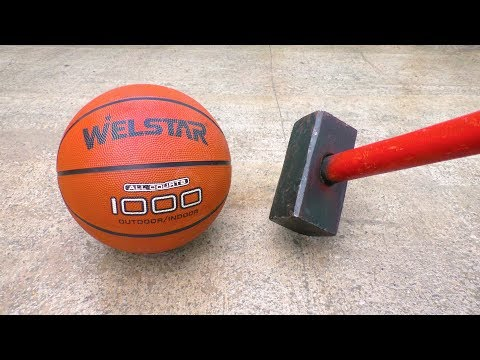 EXPERIMENT: HAMMER VS BASKETBALL