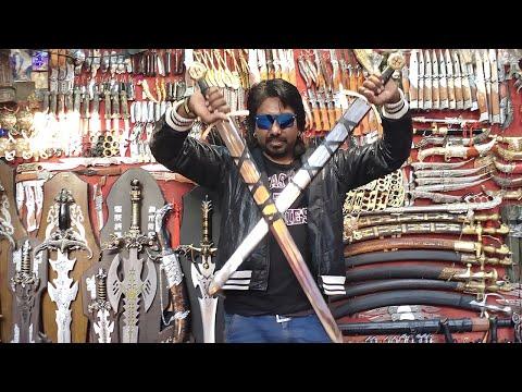 Indian Sword Market Pushkar तलवार, छुरा ,छुरी,बन्दूक  Indian Weapones Market Pushkar Rajasthan