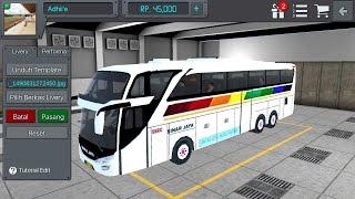 Cara mudah ganti livery di game bus simulator indonesia...!!